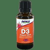 NOW Vitamine D3 Druppels 1000IE 30ml-Snowmelt