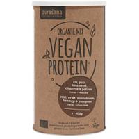 Purasana Vegan Protein Mix Erwt, Rijst, Pompoen, Zonnebloem, Hennep Cacao - Chocolade Bio 400 gr-Purasana