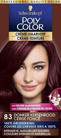 Schwarzkopf Poly Color Crème Haarverf 83 Donker Kersenrood-Schwarzkopf