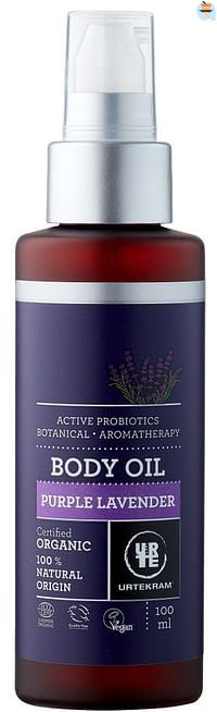 Urtekram Purple Lavender Body Oil-Urtekram