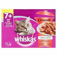 4x Whiskas Casserole Senior Classic Selectie 12 x 85 gr-Whiskas