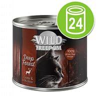 24x200g Adult Valley Konijn & Kip Wild Freedom Kattenvoer-Wild Burrow