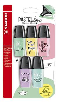 STABILO BOSS Mini fluostift Pastellove - 5 stuks-Stabilo