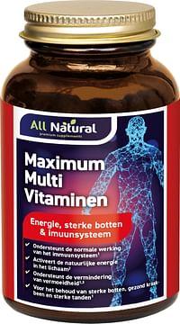 All Natural Maximum Multi Vitaminen Tabletten-Natural