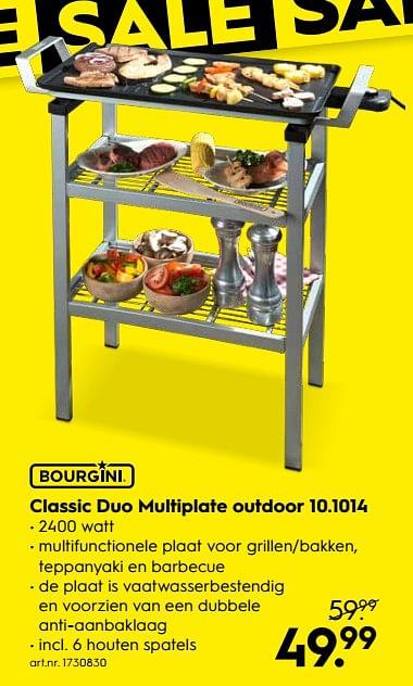 Bourgini Duo Multi Plate Outdoor 10.1014 Aanbieding bij Blokker