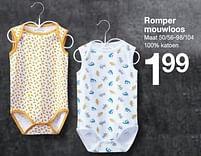 Aanbiedingen Romper mouwloos - Huismerk - Zeeman - Geldig van 30/01/2020 tot 31/08/2020 bij Zeeman
