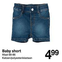 Aanbiedingen Baby short - Huismerk - Zeeman - Geldig van 30/01/2020 tot 31/08/2020 bij Zeeman