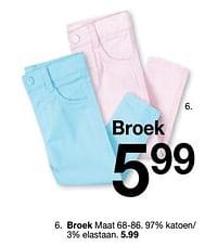 Aanbiedingen Broek - Huismerk - Zeeman - Geldig van 30/01/2020 tot 31/08/2020 bij Zeeman