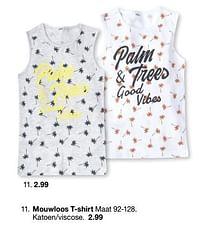Aanbiedingen Mouwloos t-shirt - Huismerk - Zeeman - Geldig van 30/01/2020 tot 31/08/2020 bij Zeeman