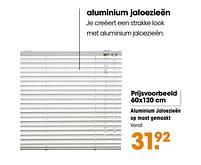 Aanbiedingen Aluminium jaloezieën op maat gemaakt - Huismerk - Kwantum - Geldig van 16/03/2020 tot 27/09/2020 bij Kwantum