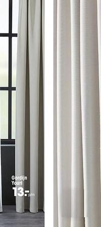 Aanbiedingen Gordijn youri - Huismerk - Kwantum - Geldig van 16/03/2020 tot 27/09/2020 bij Kwantum