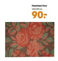 Aanbiedingen Vloerkleed flora - Huismerk - Kwantum - Geldig van 16/03/2020 tot 27/09/2020 bij Kwantum