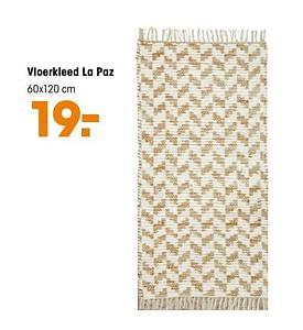 Aanbiedingen Vloerkleed la paz - Huismerk - Kwantum - Geldig van 16/03/2020 tot 27/09/2020 bij Kwantum