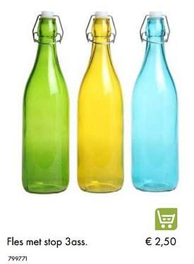 Aanbiedingen Fles met stop 3ass - Huismerk - Multi Bazar - Geldig van 30/06/2020 tot 31/08/2020 bij Multi Bazar