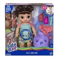 Aanbiedingen Baby Alive Plas & Dans Baby Brunette - Hasbro - Geldig van 10/10/2020 tot 01/11/2020 bij Toychamp
