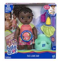 Aanbiedingen Baby Alive Plas & Dans Baby Donker - Hasbro - Geldig van 10/10/2020 tot 01/11/2020 bij Toychamp