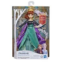 Aanbiedingen Frozen 2 Zingende Anna 2.0 - Hasbro - Geldig van 10/10/2020 tot 01/11/2020 bij Toychamp
