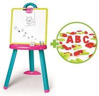 Aanbiedingen Smoby dubbelzijdig magnetisch bord roze - Smoby - Geldig van 10/10/2020 tot 01/11/2020 bij Toychamp
