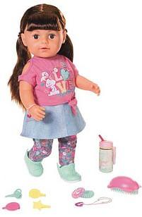 Aanbiedingen De zus van BABY Born (brunette) - Zapf creation - Geldig van 17/10/2020 tot 06/12/2020 bij Toychamp