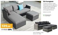 Aanbiedingen Gio loungeset - Huismerk - Exterioo - Geldig van 01/02/2021 tot 30/09/2021 bij Exterioo