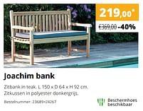 Aanbiedingen Joachim bank - Huismerk - Exterioo - Geldig van 01/02/2021 tot 30/09/2021 bij Exterioo