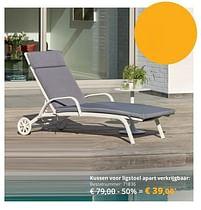 Aanbiedingen Kussen voor ligstoel apart verkrijgbaar - Huismerk - Exterioo - Geldig van 01/02/2021 tot 30/09/2021 bij Exterioo