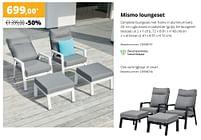 Aanbiedingen Mismo loungeset - Huismerk - Exterioo - Geldig van 01/02/2021 tot 30/09/2021 bij Exterioo
