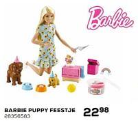 Aanbiedingen Barbie puppy feestje - Mattel - Geldig van 16/03/2021 tot 20/04/2021 bij Supra Bazar