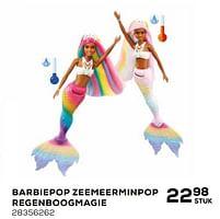 Aanbiedingen Barbiepop zeemeerminpop regenboogmagie - Mattel - Geldig van 16/03/2021 tot 20/04/2021 bij Supra Bazar