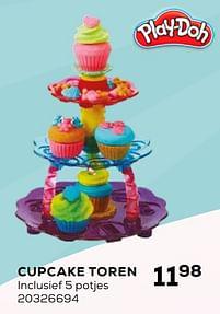 Aanbiedingen Play-doh cupcake toren - Hasbro - Geldig van 16/03/2021 tot 20/04/2021 bij Supra Bazar