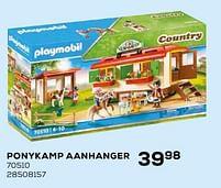 Aanbiedingen Ponykamp aanhanger - Playmobil - Geldig van 16/03/2021 tot 20/04/2021 bij Supra Bazar