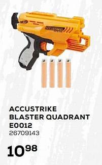 Aanbiedingen Accustrike blaster quadrant e0012 - Hasbro - Geldig van 16/03/2021 tot 20/04/2021 bij Supra Bazar