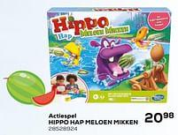 Aanbiedingen Actiespel hippo hap meloen mikken - Hasbro - Geldig van 16/03/2021 tot 20/04/2021 bij Supra Bazar