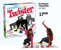 Aanbiedingen Actiespel twister - Hasbro - Geldig van 16/03/2021 tot 20/04/2021 bij Supra Bazar