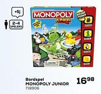 Aanbiedingen Bordspel monopoly junior - Hasbro - Geldig van 16/03/2021 tot 20/04/2021 bij Supra Bazar