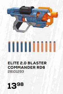 Aanbiedingen Elite 2.0 blaster commander rd6 - Hasbro - Geldig van 16/03/2021 tot 20/04/2021 bij Supra Bazar