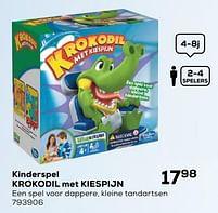 Aanbiedingen Kinderspel krokodil met kiespijn - Hasbro - Geldig van 16/03/2021 tot 20/04/2021 bij Supra Bazar