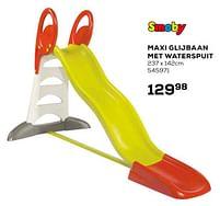 Aanbiedingen Maxi glijbaan met waterspuit - Smoby - Geldig van 16/03/2021 tot 20/04/2021 bij Supra Bazar