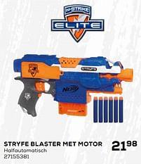 Aanbiedingen Stryfe blaster met motor - Hasbro - Geldig van 16/03/2021 tot 20/04/2021 bij Supra Bazar