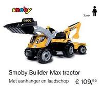 Aanbiedingen Smoby builder max tractor - Smoby - Geldig van 14/03/2021 tot 31/05/2021 bij Multi Bazar