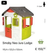 Aanbiedingen Smoby neo jura lodge - Smoby - Geldig van 14/03/2021 tot 31/05/2021 bij Multi Bazar