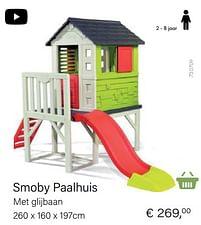 Aanbiedingen Smoby paalwoning met glijbaan - Smoby - Geldig van 14/03/2021 tot 31/05/2021 bij Multi Bazar