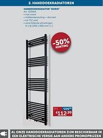 Aanbiedingen Handdoekradiator doris - Beauheat - Geldig van 30/03/2021 tot 26/04/2021 bij Zelfbouwmarkt