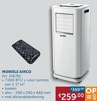 Aanbiedingen Profile mobiele airco - Profile - Geldig van 30/03/2021 tot 26/04/2021 bij Zelfbouwmarkt