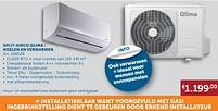 Aanbiedingen Split-airco qlima: koelen en verwarmen - Qlima - Geldig van 30/03/2021 tot 26/04/2021 bij Zelfbouwmarkt