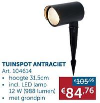 Aanbiedingen Tuinspot antraciet -  - Geldig van 30/03/2021 tot 26/04/2021 bij Zelfbouwmarkt