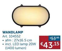 Aanbiedingen Wandlamp -  - Geldig van 30/03/2021 tot 26/04/2021 bij Zelfbouwmarkt