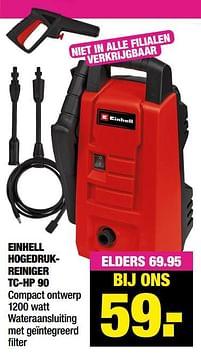Aanbiedingen Einhell hogedrukreiniger tc-hp 90 - Einhell - Geldig van 12/04/2021 tot 25/04/2021 bij Big Bazar