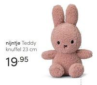 Aanbiedingen Nijntje teddy knuffel - Nijntje - Geldig van 18/04/2021 tot 24/04/2021 bij Baby & Tiener Megastore