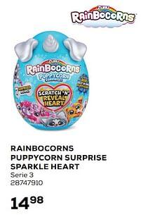 Aanbiedingen Rainbocorns puppycorn surprise sparkle heart - Rainbocorns - Geldig van 20/04/2021 tot 25/05/2021 bij Supra Bazar